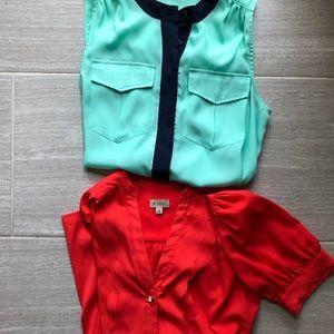 2 women's blouses. Daniel Cremieux and J Crew